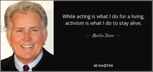 Martin SHeen  GDoL 9-21-17 with quote